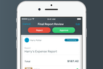 Expensify screenshot: Approve or reject expense reports via mobile