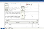 ECOUNT screenshot: Invoice creation