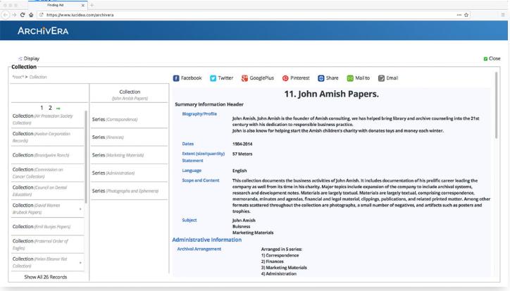 ArchivEra collection management
