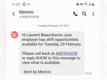 Merinio Software - Share all the necessary information: Fill your shifts quickly and make sure the job is done perfectly. Communicate all the necessary information directly to employees by the method of their choice, via call, SMS, notification or email.