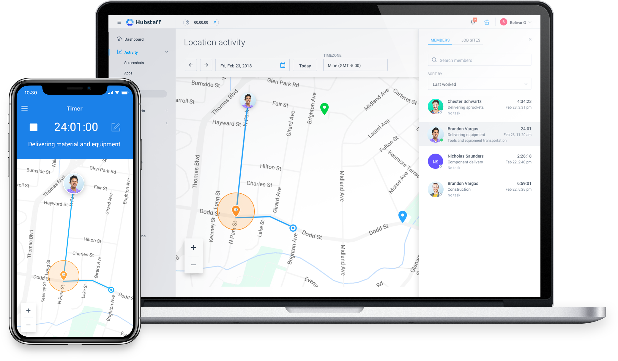 Geofencing feature in device