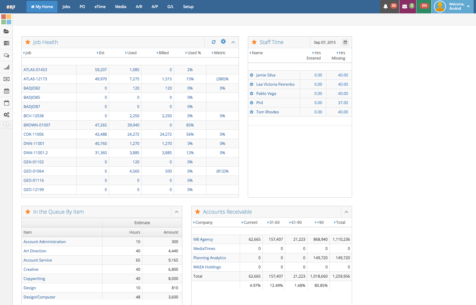 eSilentPARTNER Software - Executive, Project Management, and CRM Dashboards