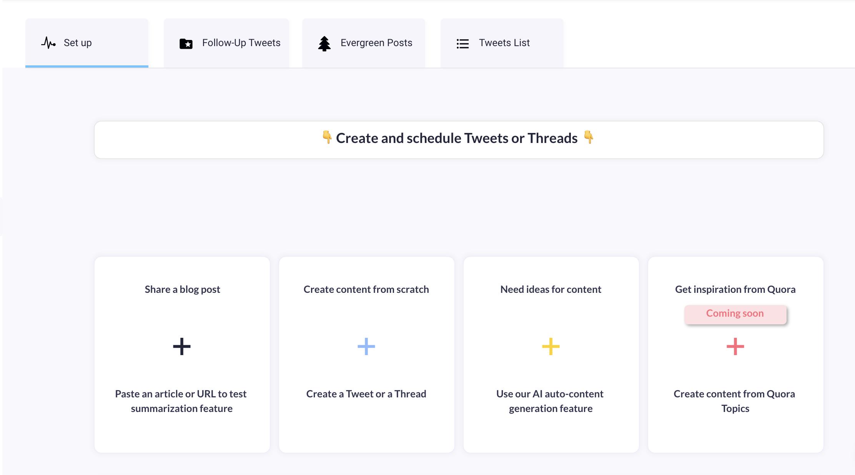 Create & schedule content - Auto-generation content help