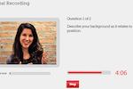 interviewstream screenshot: One-way voice / video interviewing