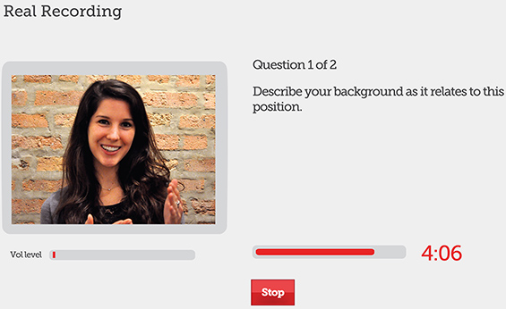 One-way voice / video interviewing