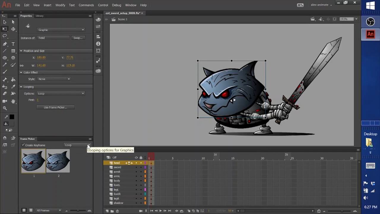 Adobe Animate scene properties