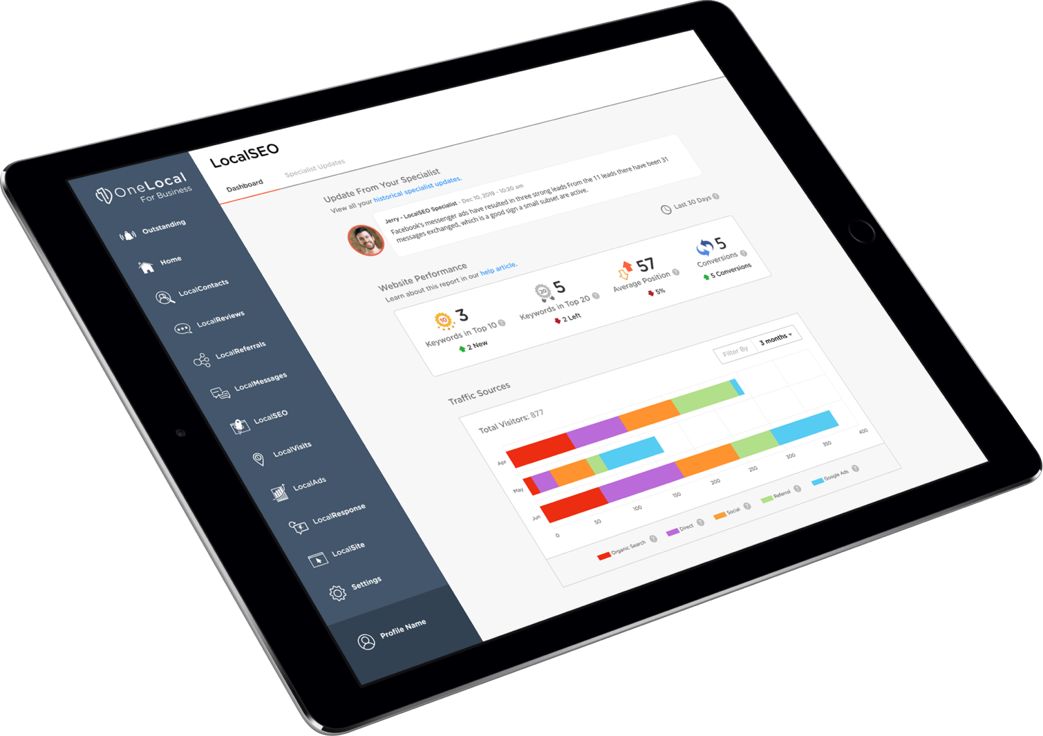 LocalSEO Software - The fully transparent dashboard lets you see exactly what is being done for your SEO and the results you are getting