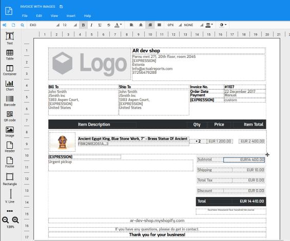 PDF Generator API - user interface