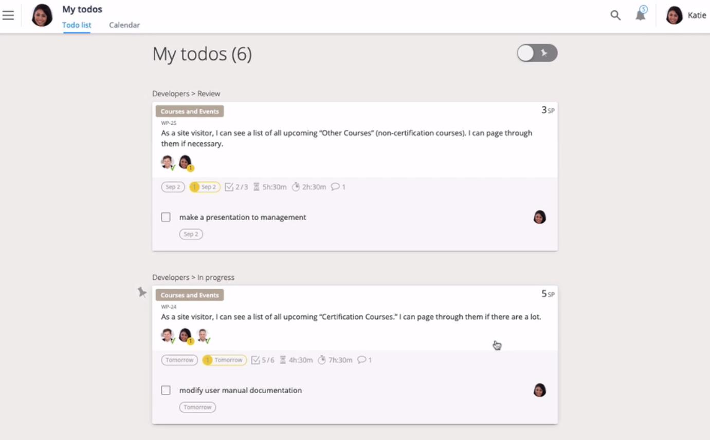 Scrum Mate screenshot: Scrum Mate personal to-do lists