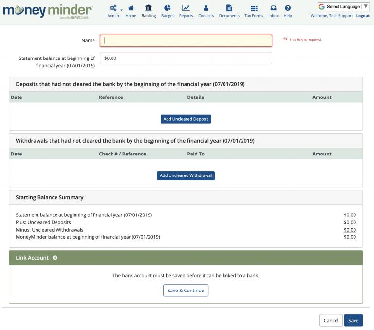 MoneyMinder Software - 3