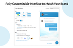 Comm100 Live Chat screenshot: Fully Customizable Interface to Match Your Brand