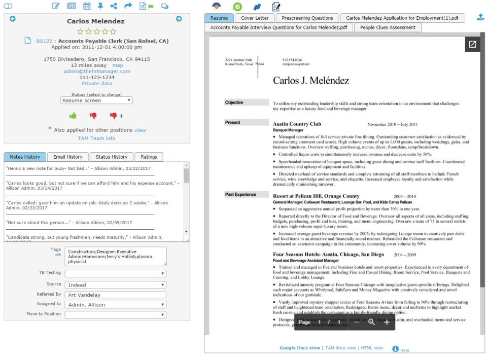 The Applicant Manager Software - 3