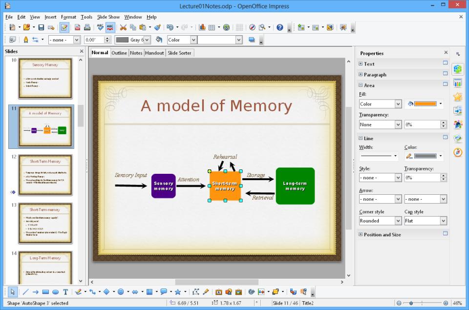 Apache OpenOffice create presentations
