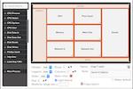 TrueSight Pulse screenshot: TrueSight Pulse monitoring-as-a-service: dashboard customization drag and drop editor view