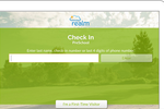 Realm screenshot: Realm includes self-service check-in functionality