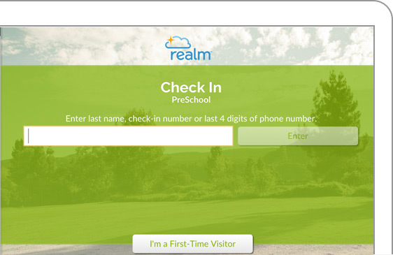 Realm includes self-service check-in functionality