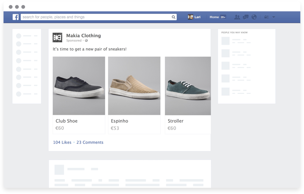 Post-purchase engagement on Facebook.