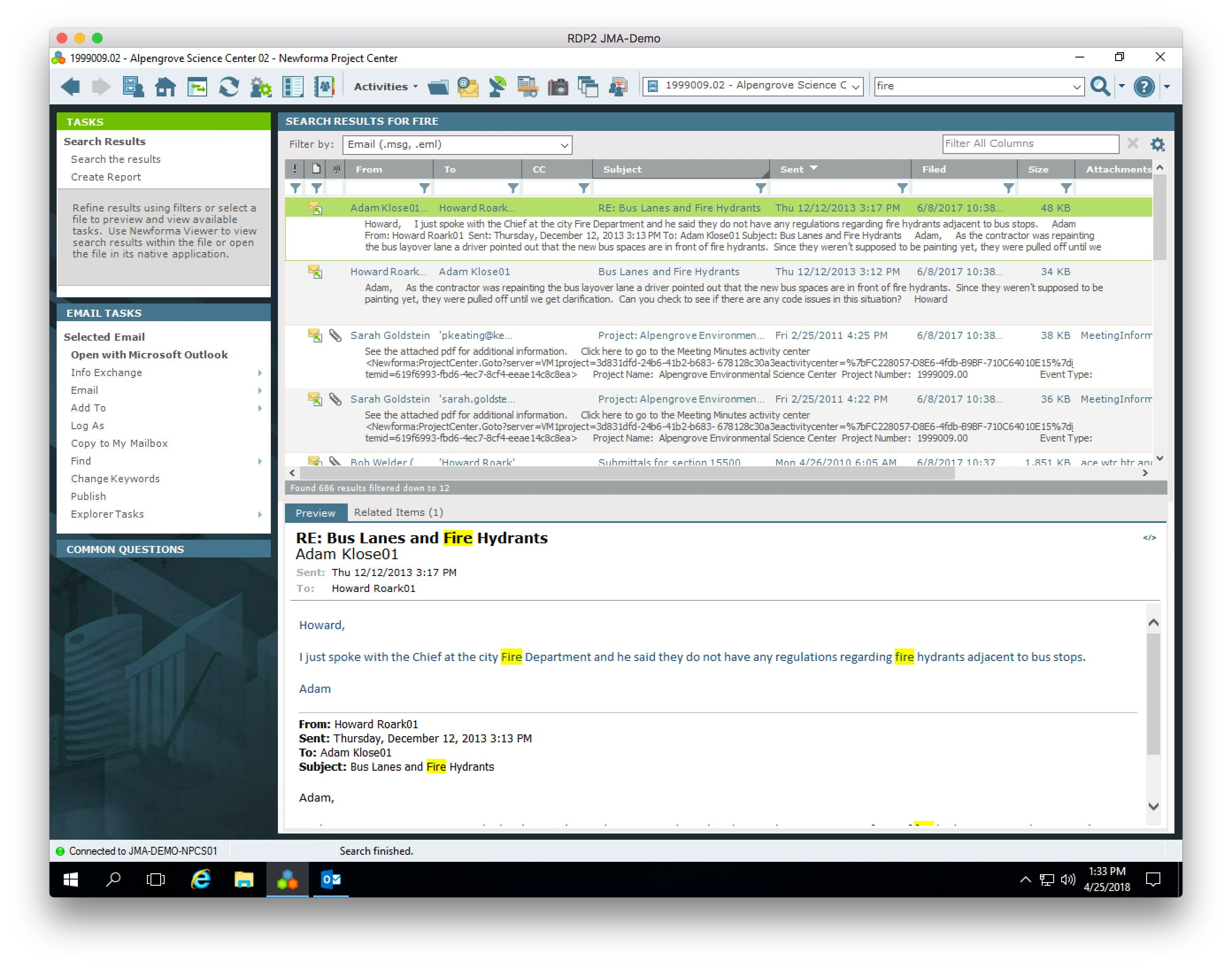 ConstructEx Software - Email search results