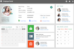 Officekit screenshot: View contact details and leave balance quickly from the central employee portal