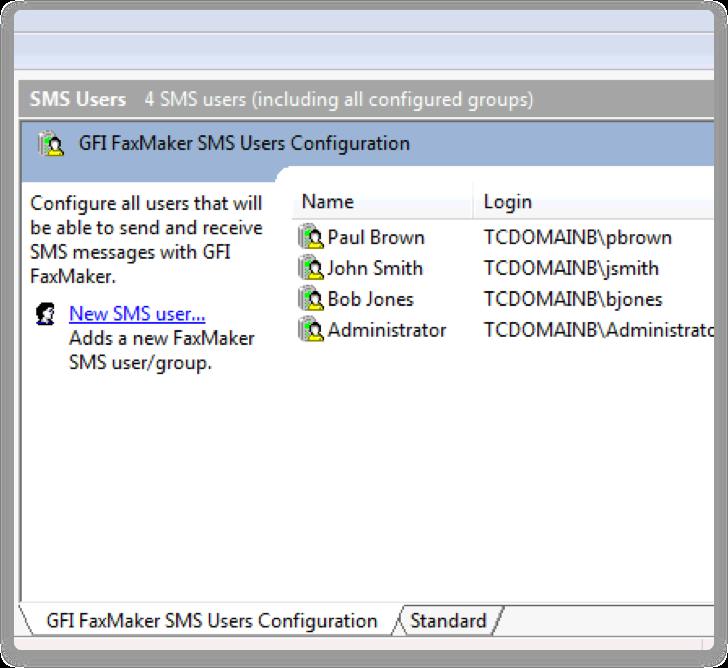 GFI FaxMaker Software - GFI FaxMaker text messaging
