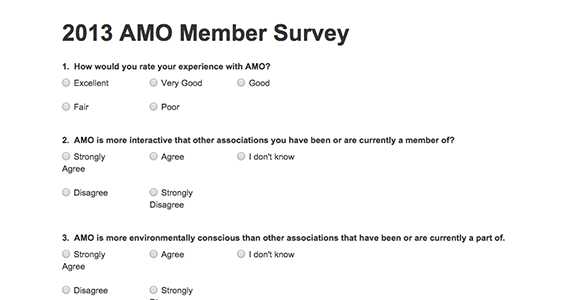 Gather feedback and information from a membership base and contacts by conducting surveys