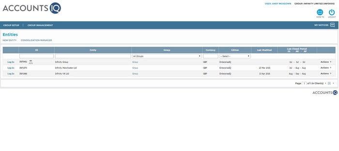 AccountsIQ Software - Group management
