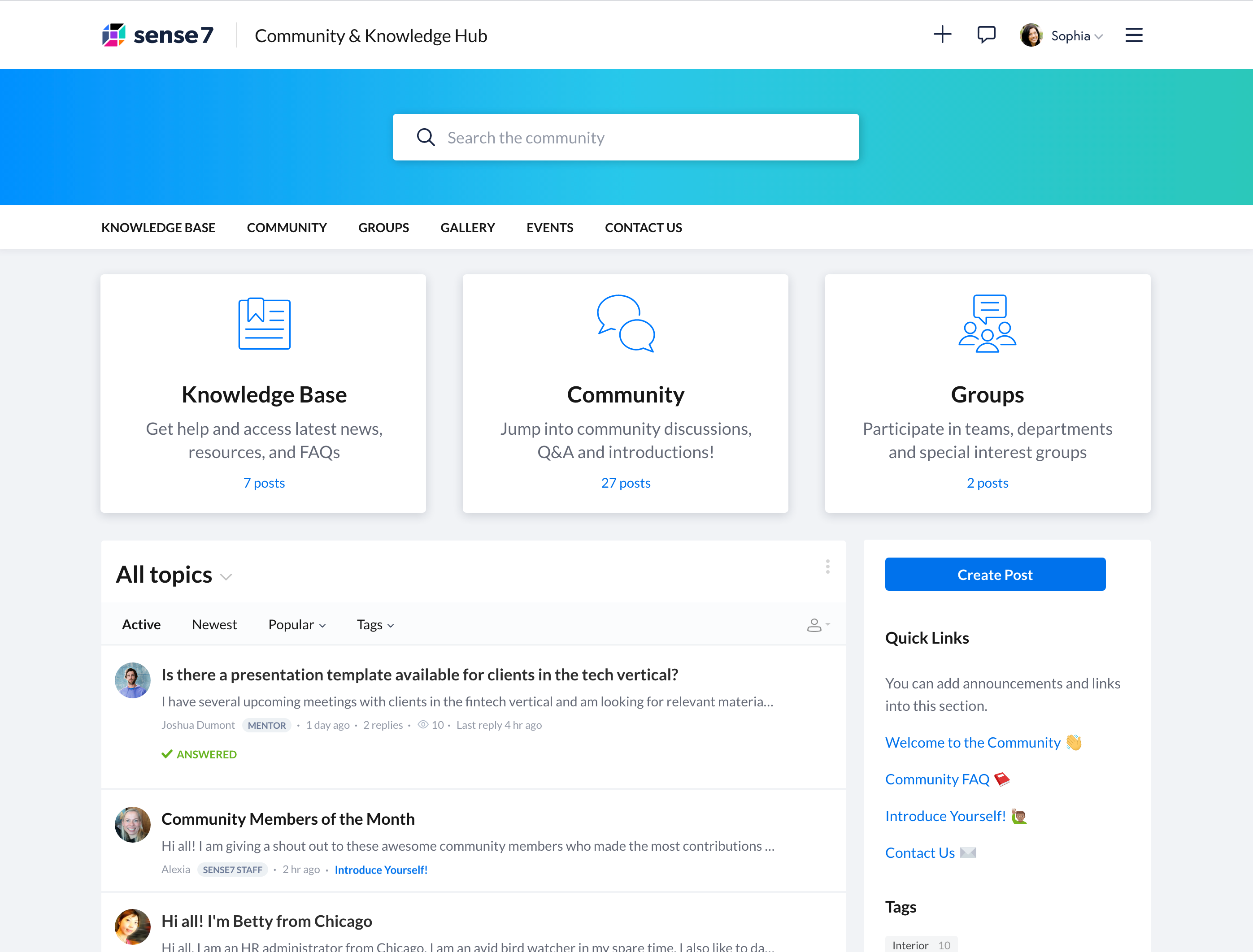 Example theme for a Forumbee community and knowledge base hub