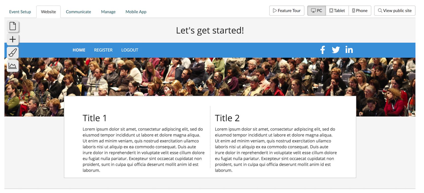 Swoogo Website Editor
