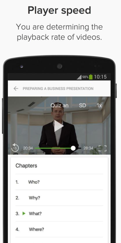 Users can set the playback rate of a video
