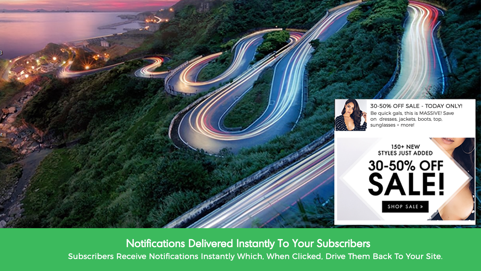 Notifications can be delivered instantly to subscribers or scheduled for a later date