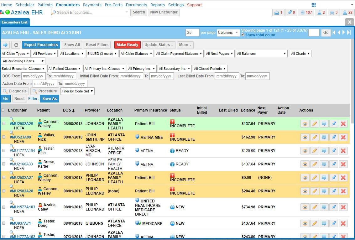 Azalea Health Software - RCM billing services
