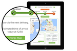 Stream Go screenshot: Customers can view their estimated time of delivery and track the vehicle on a geographic map