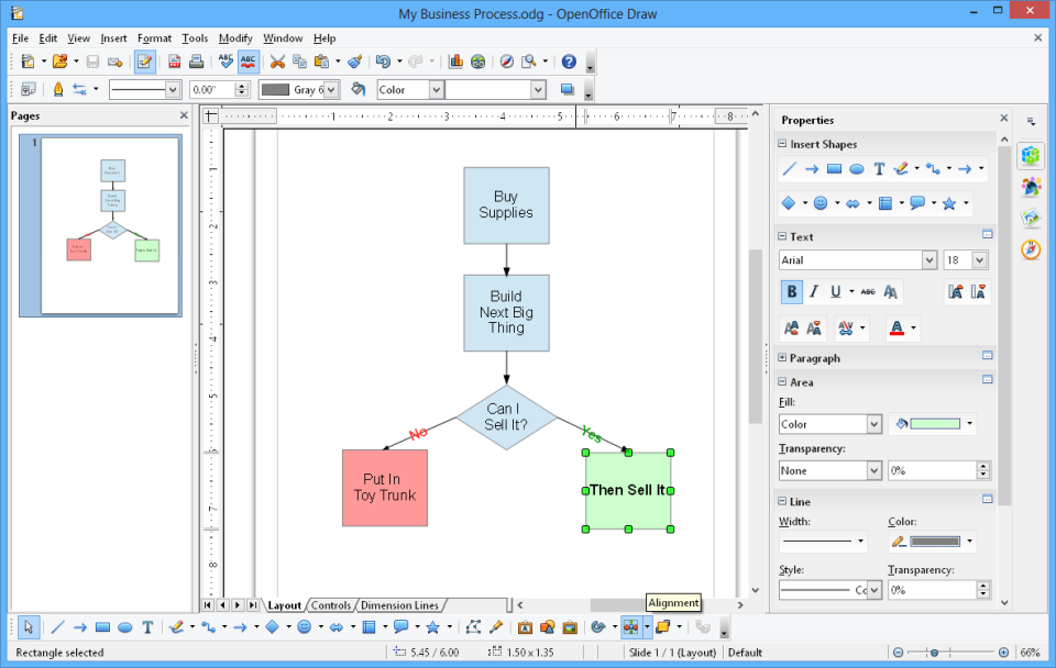 Apache OpenOffice drawing tools