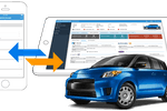 Capture d'écran pour DealerCenter : Centralized inventory management features provide insight into every vehicle currently within the dealership's lot, with syncing between the DealerCenter mobile app