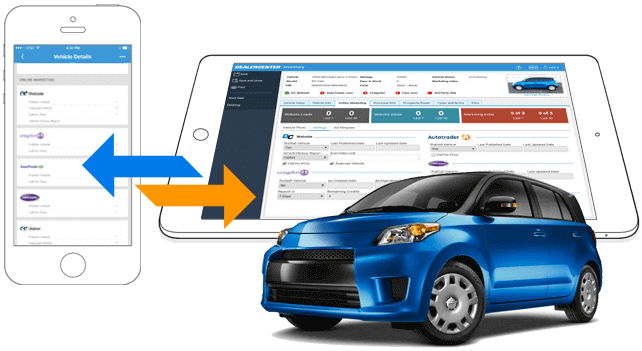 Centralized inventory management features provide insight into every vehicle currently within the dealership's lot, with syncing between the DealerCenter mobile app