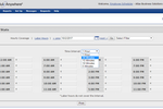 ScheduleAnywhere screenshot: Users can track staffing coverage over 5, 10, 15, 30, and 60 minute intervals