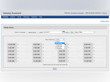 ScheduleAnywhere Software - Users can track staffing coverage over 5, 10, 15, 30, and 60 minute intervals