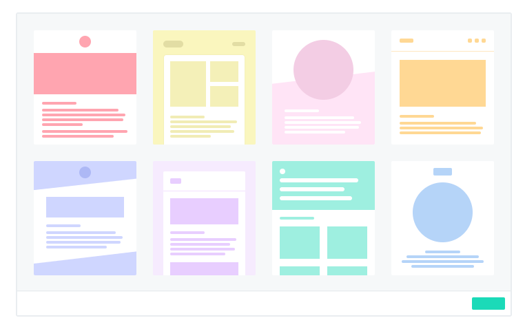 Hundreds of built in templates to get you started