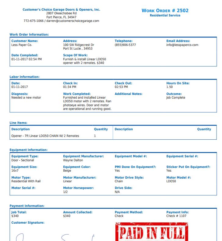 Less Paper Software - Invoice module