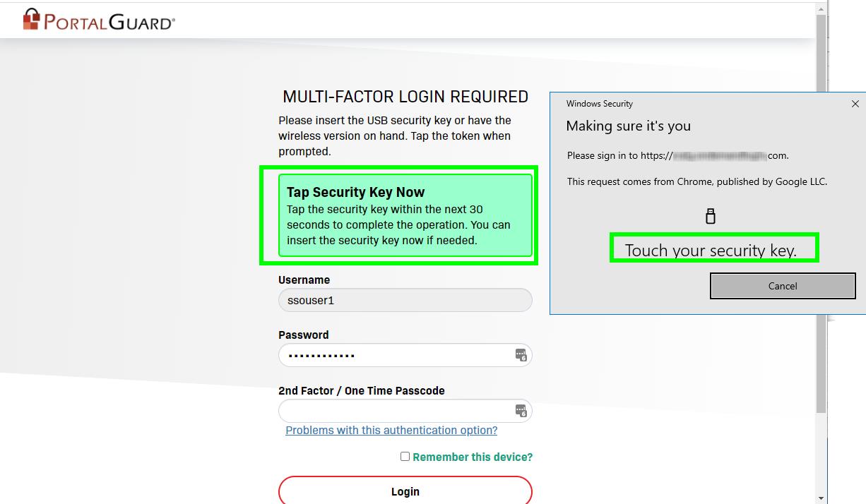 Multi-factor Login with YubiKey