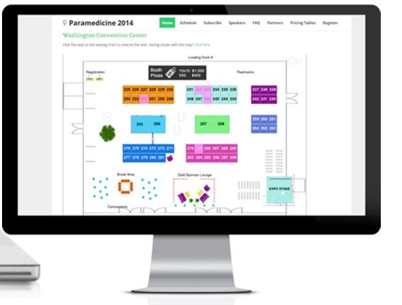 SimpleTix Software - Exhibitor reservation chart