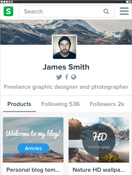 Will Sellfy, users can sell their downloadable products through a customizable storefront