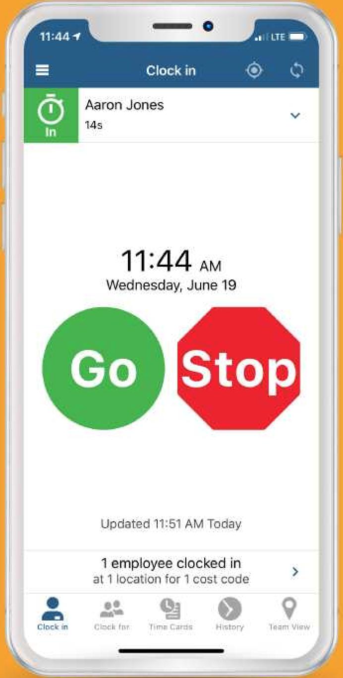 Mobile timeclock