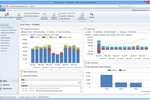 Skybill Utility Billing screenshot: The software integrates with Microsoft Dynamics ERP and offers insights on financial and sales performance