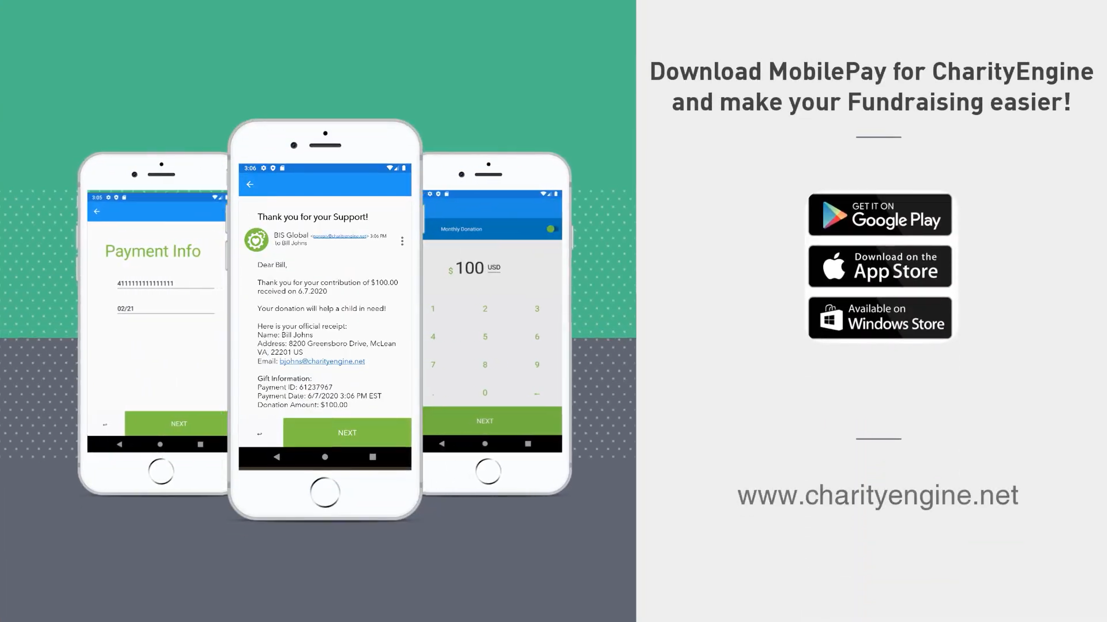 MobilePay for Contactless Donations Mobile app