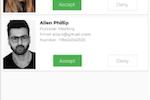 GreetLog Screenshot: GreetLog visitor notification