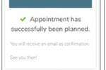 Vectera screenshot: Vectera appointment confirmation