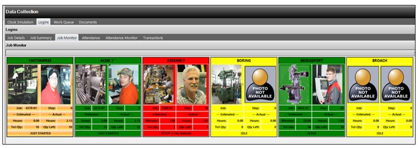 E2 Manufacturing System Software - Job Monitor