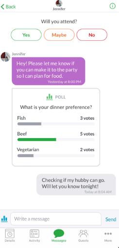 Evite polls
