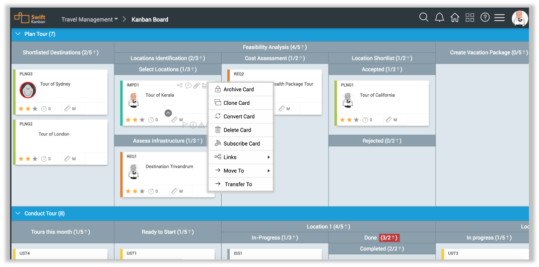 SwiftKanban screenshot: SwiftKanaban Board